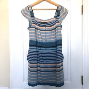 Marc by Marc Jacobs Casual Striped Dress Pockets
